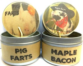 COMBO - Pig Farts and Maple Bacon - Set of TWO 4oz All Natural Soy Candl... - $15.03