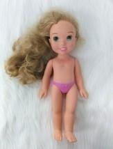 "15"" Rapunzel Disney Princess Doll Tangled Hard Posable Blonde Green Eyes... - $10.39"