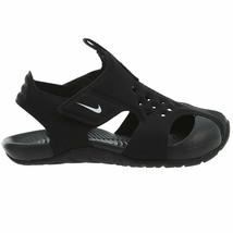 Nike Kid's Sunray Protect 2 (TD) Sandal Black/White 943827-001 - $64.95