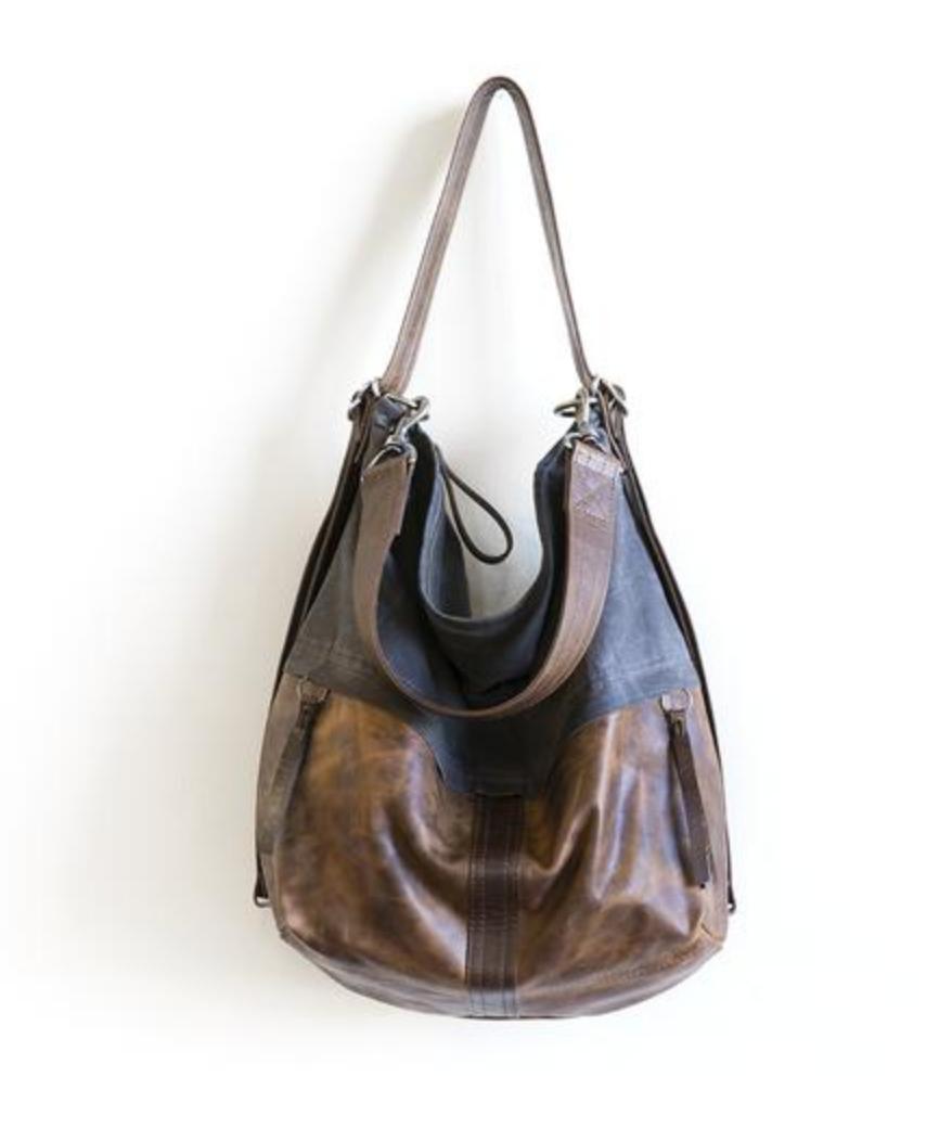 "Rough & Tumble ""City Safari"" Double Zip Small hobo bag"
