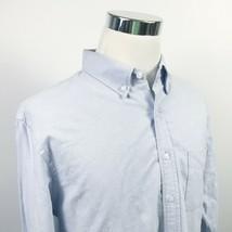 J Crew Mens LT Oxford Shirt Light Blue 100% Cotton Casual Button Down Re... - $19.95