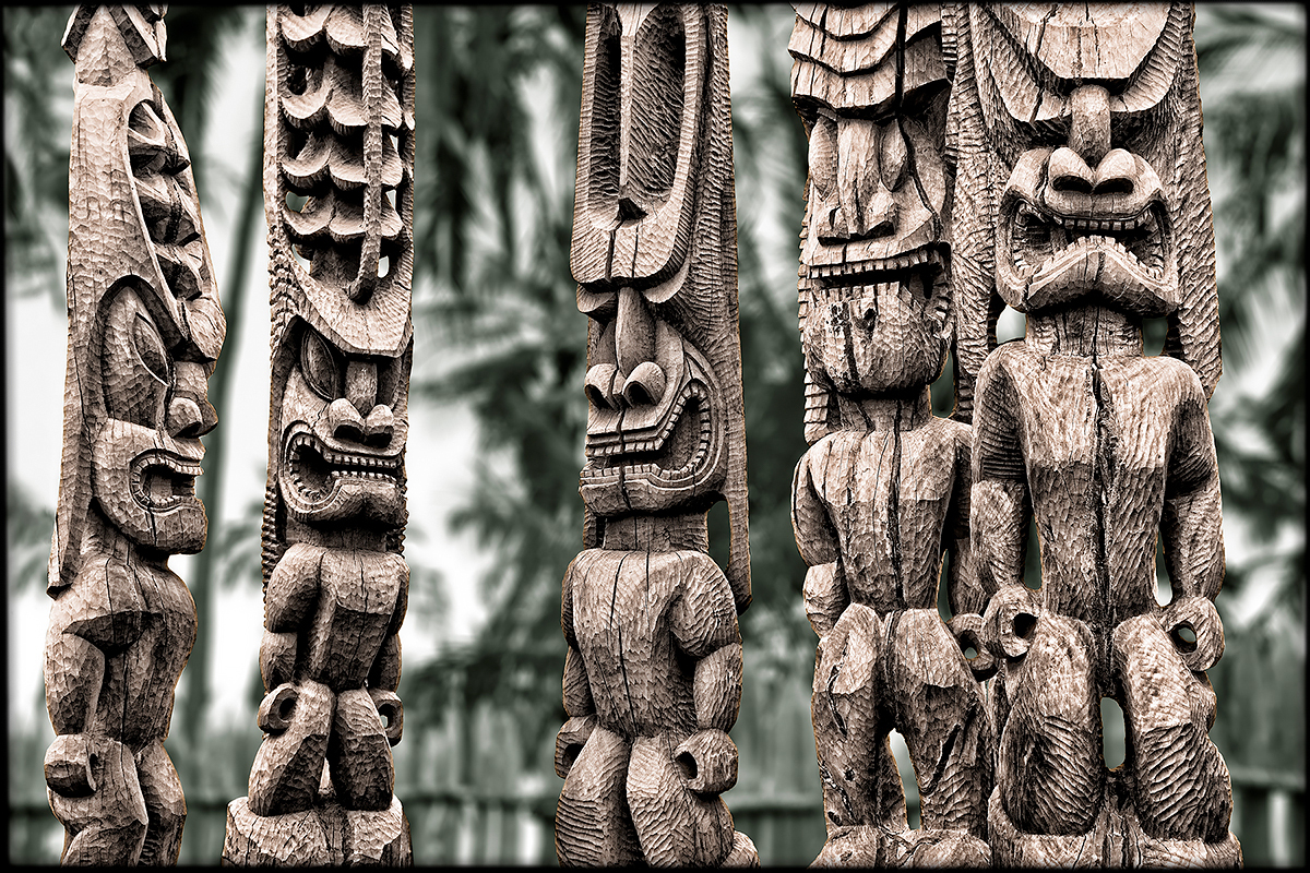 Tiki Clan, Hawaii, Fine Art Print, Paper, Metal, Canvas Prints