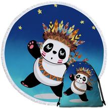 Native American Panda  Beach Towel - $12.32+