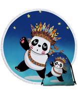 Native American Panda  Beach Towel - $12.32+