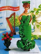 "Cocktail Evening Party Dress Gown Barbie 11-1/2"" Doll Clothes Crochet Pattern image 3"