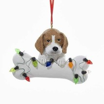 Beagle w/Bone & Lights Ornament - $12.95