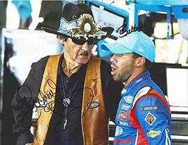 2X AUTOGRAPHED Darrell Wallace Jr. & Richard Petty 2017 Monster Cup Repl... - $141.78