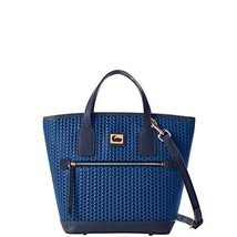 Dooney & Bourke Camden Woven Sm Convertible Tote Midnight Blue