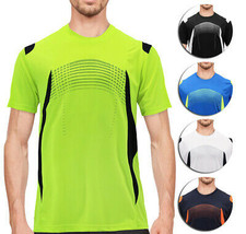 Men's Gym Workout Sport Two Tone Running Performance Quick-Dry T-shirt