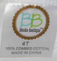 Blanks Boutique Girls White Long Sleeve Ruffle Tee Shirt 4T image 4