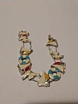 """SAILBOAT Vintage Slide Bracelet 7"""" (Grandmother's Collection) - $9.89"""
