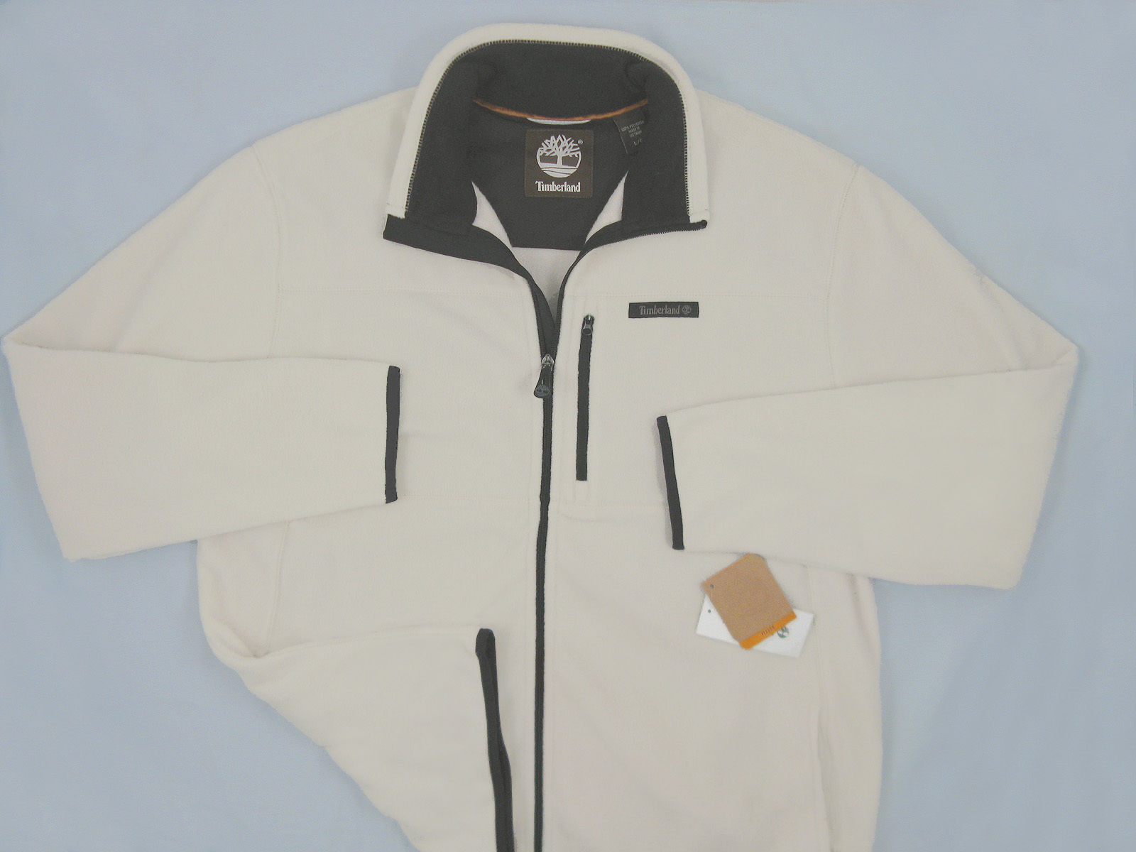 NEW! Timberland Mens Fleece Jacket (Coat)!  Large  Oatmeal  *Cut Large & Roomy* - $69.99