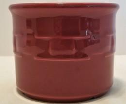Longaberger Woven Traditions Paprika Red Burgundy Stoneware Butter Salt ... - $9.70