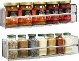 Spice Jars Organizer Small Condiments Bottles Rack Storage Wall Mounted ... - $32.43