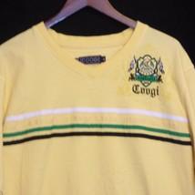 XL Coogi Australia Crest Emblem Yellow T Tee Shirt - $14.81