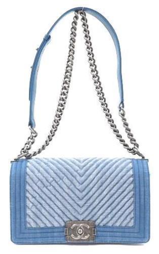 4270d21bb9d7 Auth CHANEL Shoulder Bag Blue Matelasse Boy and 50 similar items. 12