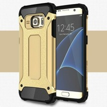 PC + TPU Phone Cover for Samsung Galaxy S7 G930 - Gold - $3.29