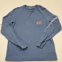 Vineyard Vines Men's Blue Pocket Long Sleeve T-Shirt Small Good Condition - $23.75