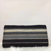 NEW AUTHENTIC CHANEL 2019 BLACK CANVAS STRIPE LARGE DEAUVILLE 2 WAY TOTE BAG  image 5