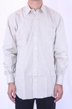 15 L NEW Robert Talbott Beige Striped Long Sleeve Button Down Dress Shirt - €100,84 EUR
