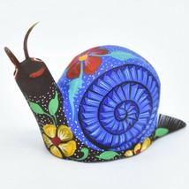 Handmade Alebrijes Oaxacan Copal Wood Carved Painted Folk Art Snail Figurine