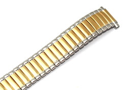 Speidel 10-14MM Two Tone Expansion Twist O Flex Watch Band Strap Fit Easy Reader - $14.84