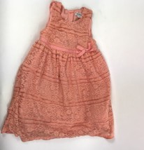 DKNY Toddler Dress Sleeveless Lace Overlay Sz 2T - $14.54