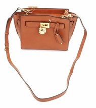 Michael Kors Hamilton Tan Brown Leather Tote Shoulder Bag Small Handbag ... - $266.08