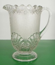 EAPG Glass Westmoreland SHELL AND JEWEL Pitcher Victor Early Nugget - $34.60