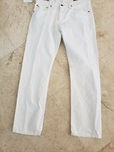 Polo Ralph Lauren Men's Hampton Straight Fit White Denim J EAN S 36X30 $98 Nwt - $38.99