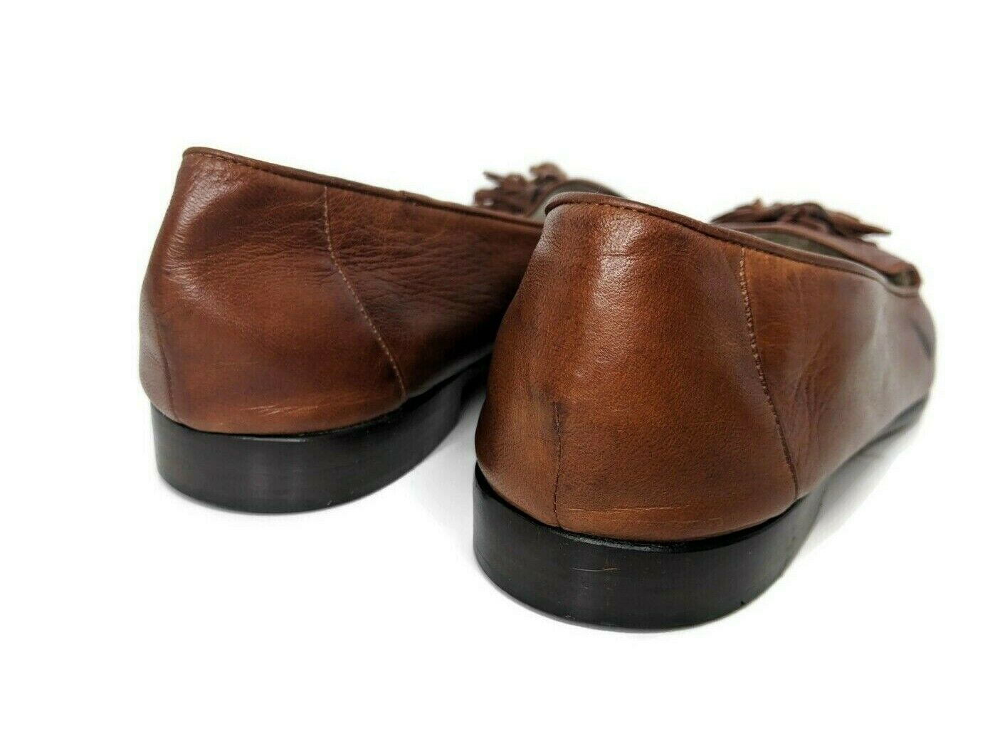 Cole Haan Womens Size 10 Brown Soft Leather Tassle Split Toe Loafers image 3