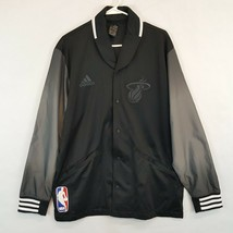 Miami Heat Court Side Adidas Warm Up Jacket NBA LeBron James Wade Bosch sz Large - $163.31