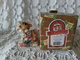 Enesco Santa's Special Deerlivery Deer With Fuzzy Socks Figure - $14.54