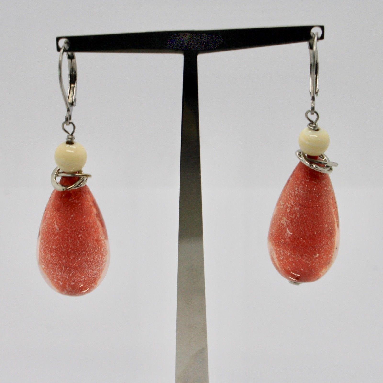 EARRINGS ANTICA MURRINA VENEZIA WITH MURANO GLASS DROP RED OR540A25
