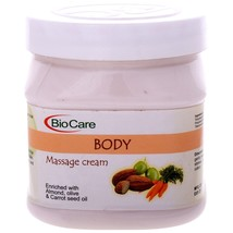 Biocare Body Massage Cream Enriched With Alomnd Olive & Carrot Seed Oil ... - $28.70