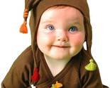 Soft So Cute Chocolate & Orange Sckoon Organic Cotton Kabuki Infant Wear