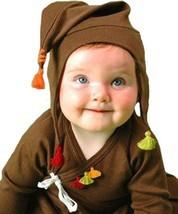 Soft So Cute Chocolate & Orange Sckoon Organic Cotton Kabuki Infant Wear - $13.33