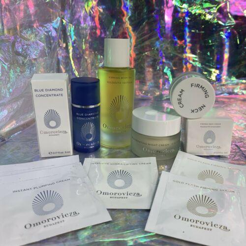 Omorovicza Lot Neck + Rejuvenating Night Cream Firming Body Oil + Blue Diamond