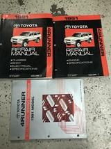 1991 Toyota 4RUNNER Service Atelier Réparation Atelier Manuel Set OEM Av... - $228.67