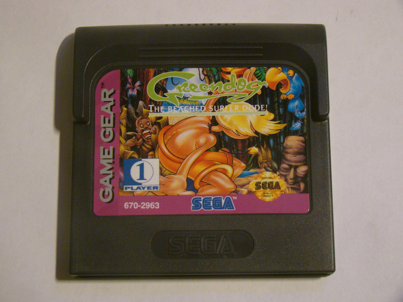 SEGA GAME GEAR - Green dog THE BEACHED SURFER DUDE! (Game Only)