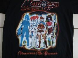 "Metrocon 2011 ""Monsters VS. Hunters"" Soft Black T Shirt Men's Size S - $15.83"