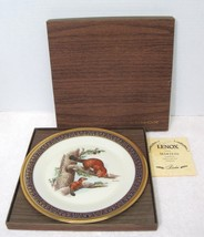 Martens Woodland Wildlife Plate Lenox Boxed w Papers 1981 Edward Boehm 1... - $84.15