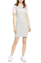 Fila Roslyn Colorblocked T-Shirt Dress In Grey New Size Small Rare Retai... - $49.49
