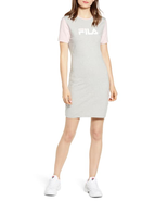 Fila Roslyn Colorblocked T-Shirt Dress In Grey New Size Small Rare Retai... - $49.49