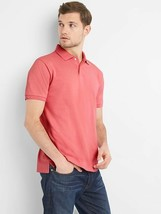 Gap Men Polo Shirt S M L Vintage Red Short Sleeve Pique Cotton Side Slit... - $24.95