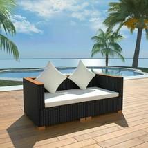 vidaXL Garden Sofa Set 6 Piece Wicker Poly Rattan WPC Outdoor Lounge Seat - $254.99