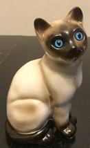 "Vintage Enesco Ceramic SIAMESE CAT Figurine 7"" ~ Kitten ~Blue Eyes~facin... - £7.62 GBP"