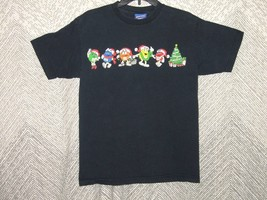 Vintage M&M's Brand Christmas Candy All Colors Graphic Adult T-Shirt Size M - $13.86