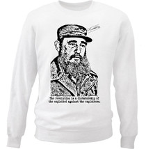 Fidel Castro 3 - New White Cotton Sweatshirt - $33.11