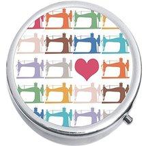 Sewing Machine Love Medicine Vitamin Compact Pill Box - $9.78